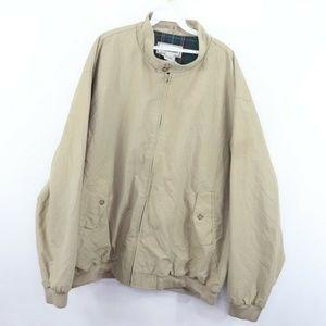 Vintage LL Bean Blanket Lined Bomber Jacket Khaki